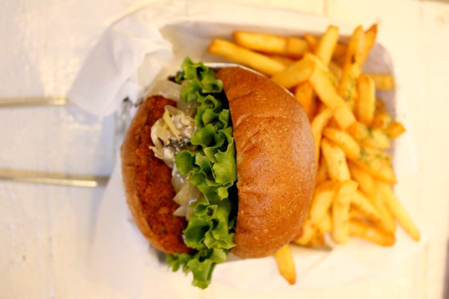 Comida vegetariana en San Francisco Veggie Burger