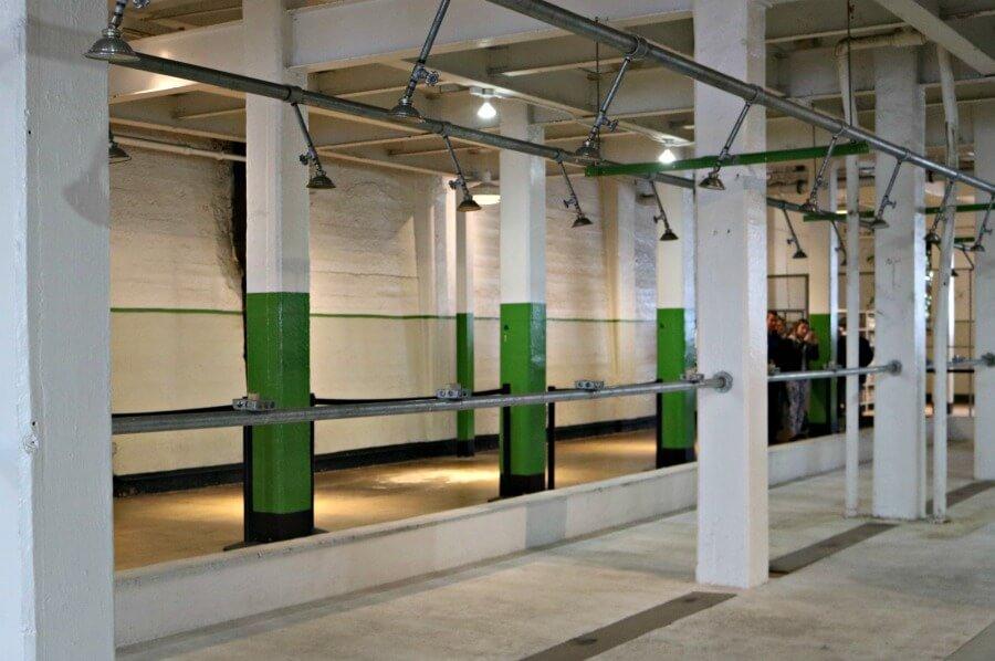 Duchas de la prisión de Alcatraz