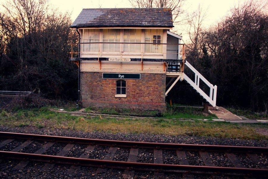 Estación de tren en Inglaterra
