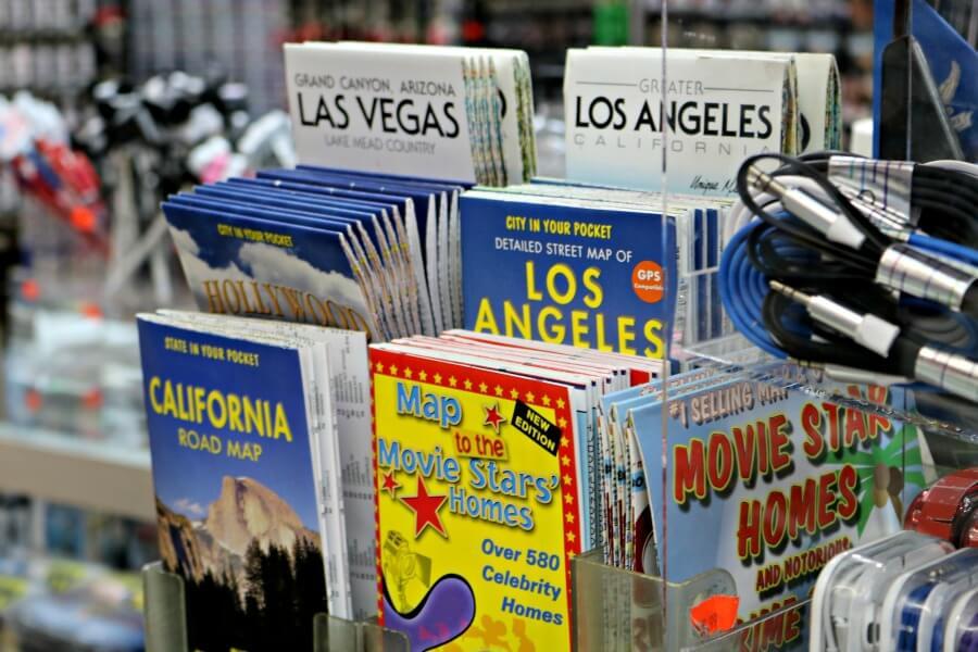 Mapa con direcciones de casas de famosos en Beverly Hills