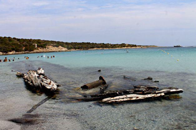 Playa del Relitto en Cerdeña