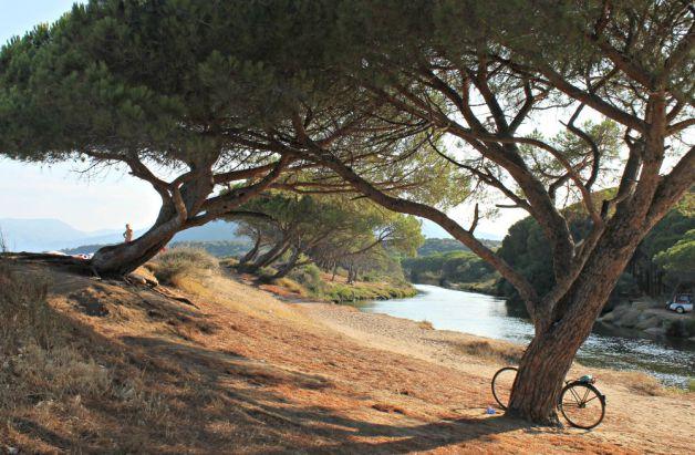 Río y playa en Orosei - Cerdeña