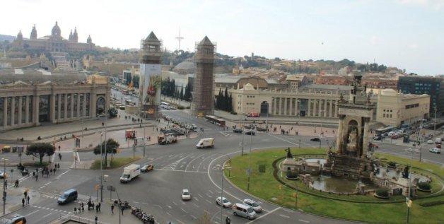Vistas a la Plaza de España - Planes originales en Barcelona
