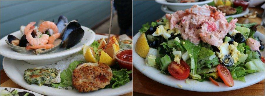 Algunos de los platos de Brophy  Bros en Santa Bárbara