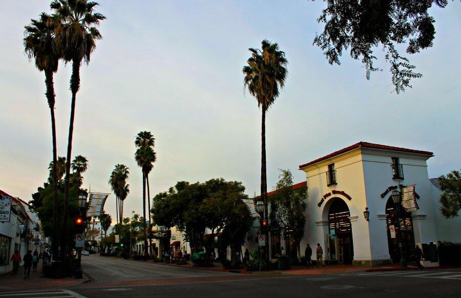 Calle State en Santa Bárbara
