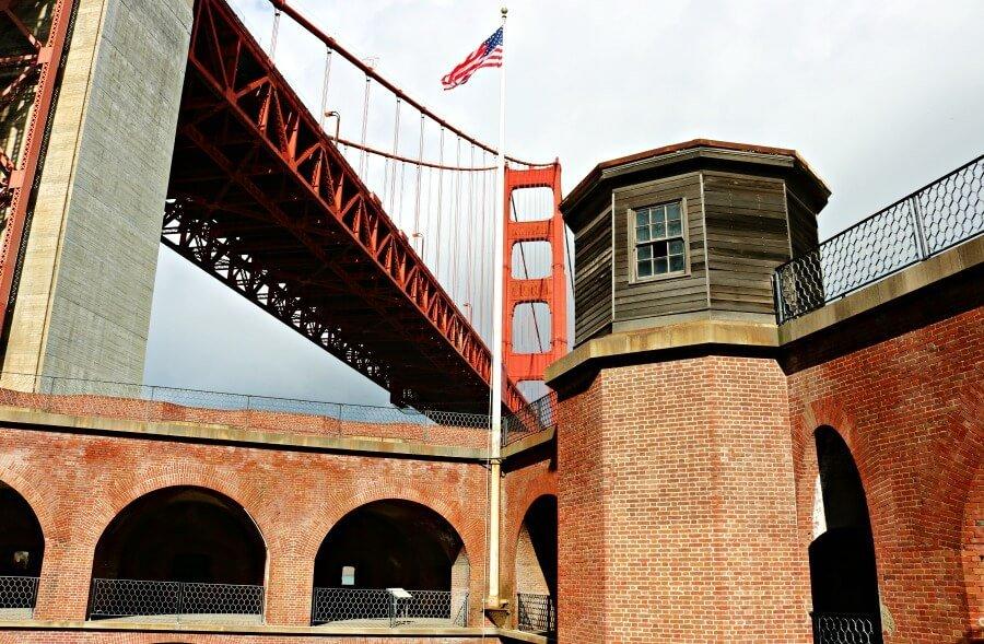 El Fort Point y el Golden Gate en San Francisco, buen mirador gratis