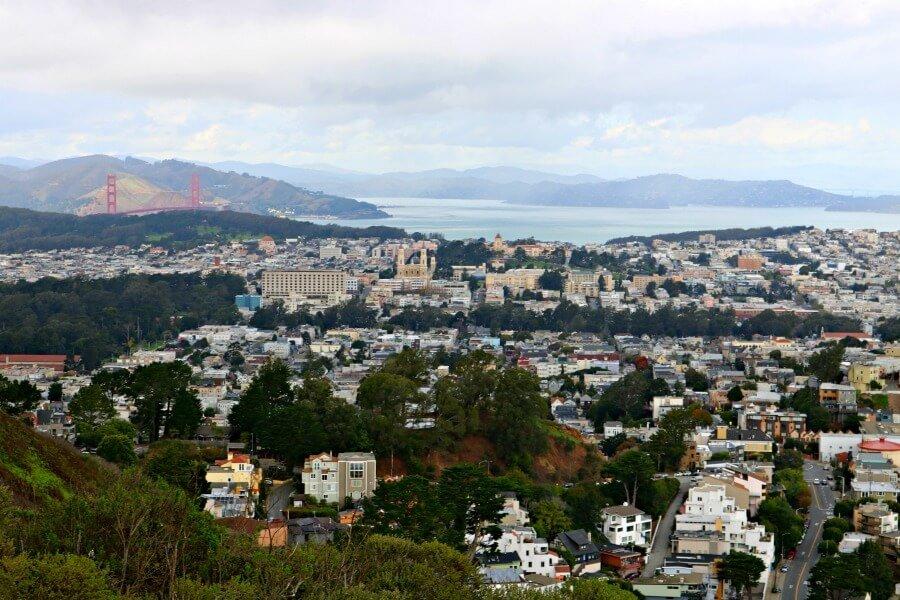 Golden Gate desde las Twin Peaks de San Francisco