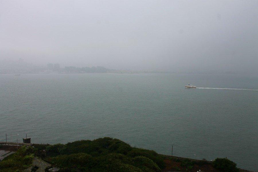 Ojalá hubiésemos podido ver el Golden Gate desde Alcatraz