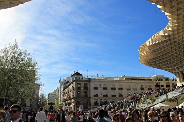 Palio en Las Setas en la Semana Santa en Andalucía