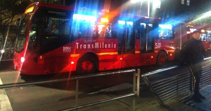 Autobús Trasmilenio Bogotá
