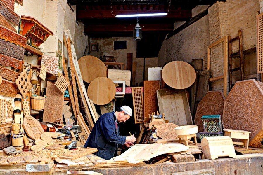 Barrio de los carpinteros de Fes