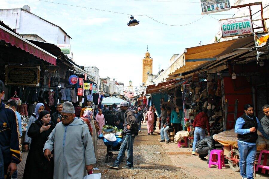 Calles con encanto en la medina de Rabat