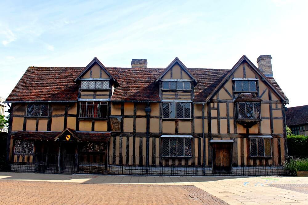 Casa de William Shakespeare en Stratford-upon-Avon, Inglaterra