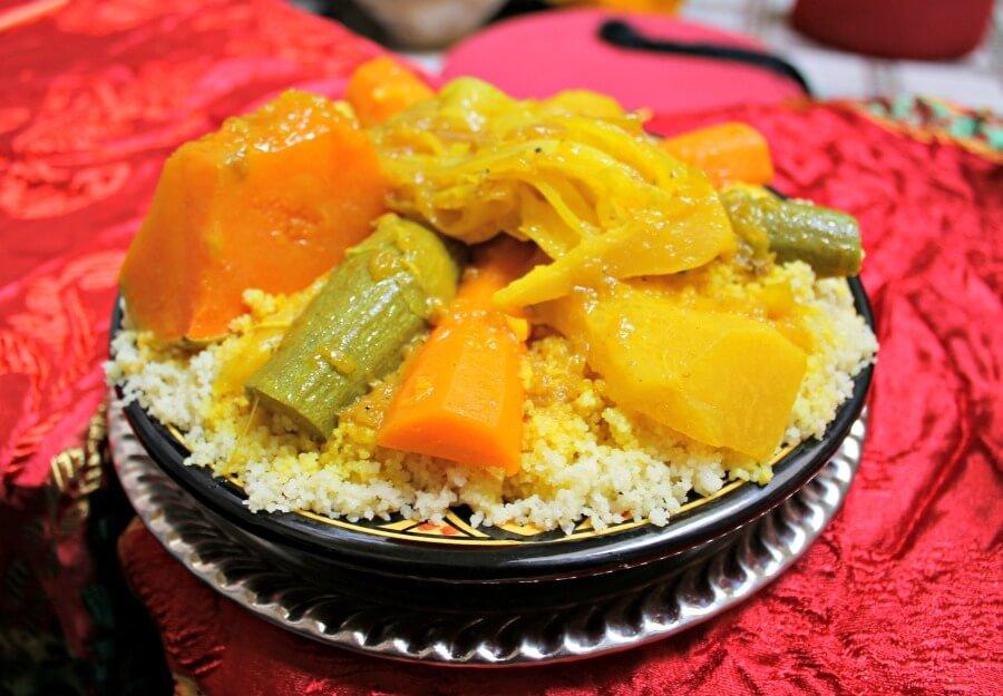 Couscous con verduras en Rabat