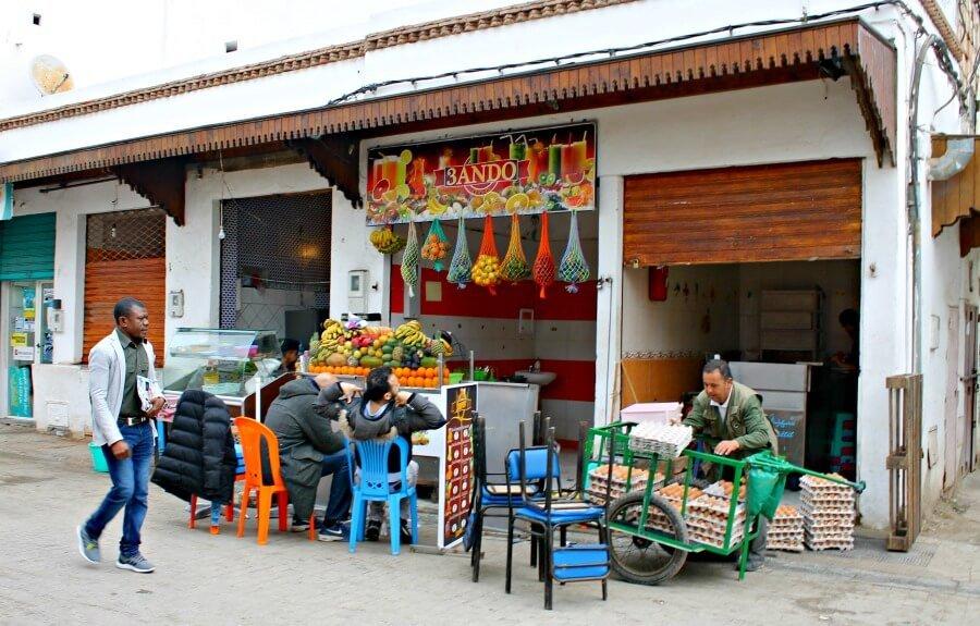 Desayunos en la medina de Rabat