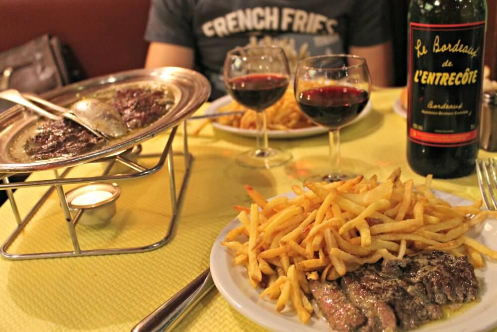 Dónde comer en Burdeos - El Entrecôte