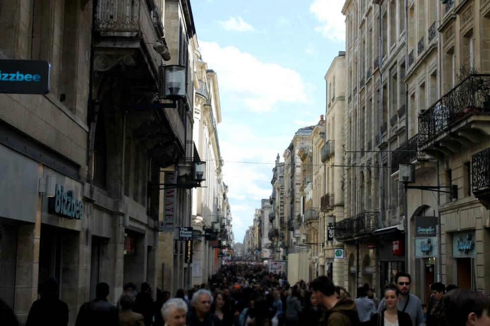 La concurrida Rue de Sainte Catherine