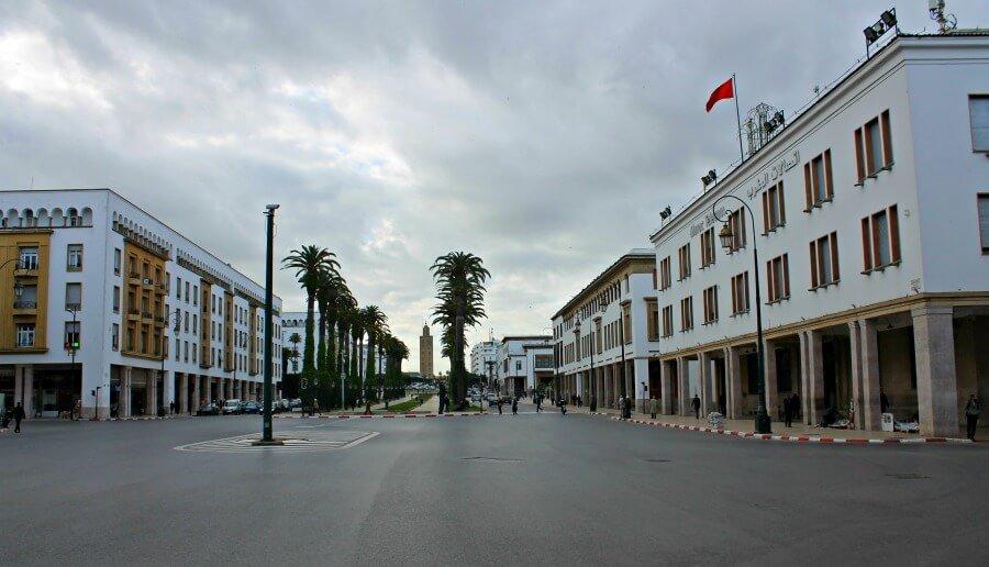La gran avenida Mohammed V de Rabat