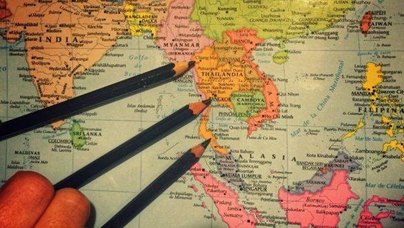 Mapa ruta Tailandia - Viajar a Tailandia por libre