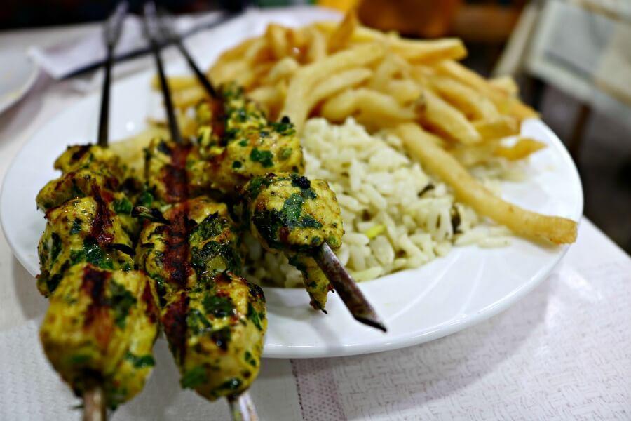 Pinchitos morunos en Rabat