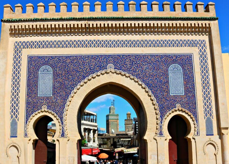 Puerta Bab Boujloud o Puerta Azul de Fez