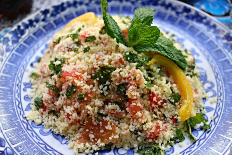 Taboulé en Dar Rachid - Comer en Fez