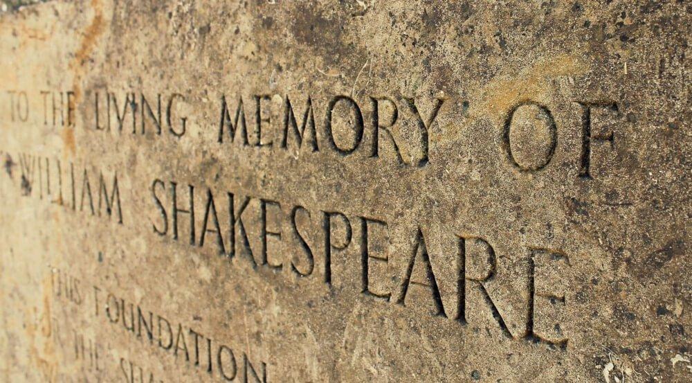 To the living memory of William Shakespeare en Avon