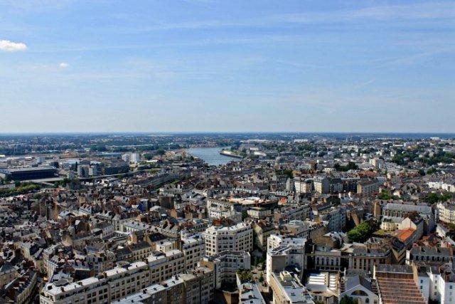 Vistas desde la Torre Bretaña de Nantes