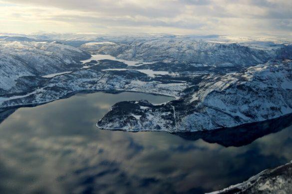 A punto de aterrizar en Alta, la capital del norte de Noruega