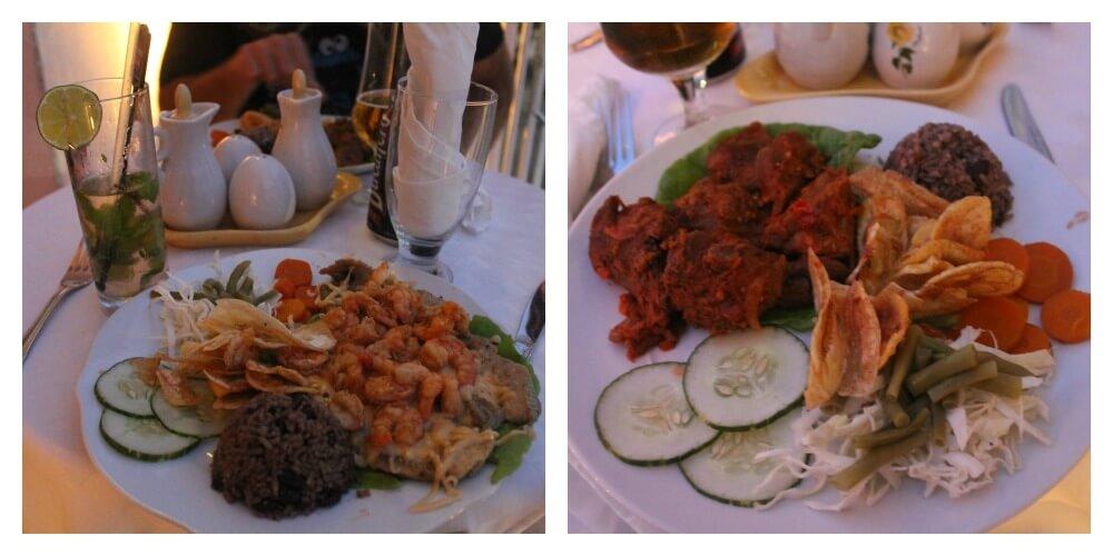 Cena en Doña Nora - Comer en Cienfuegos
