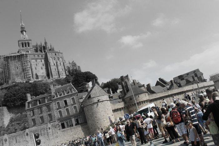 Colas en el Monte Saint-Michel