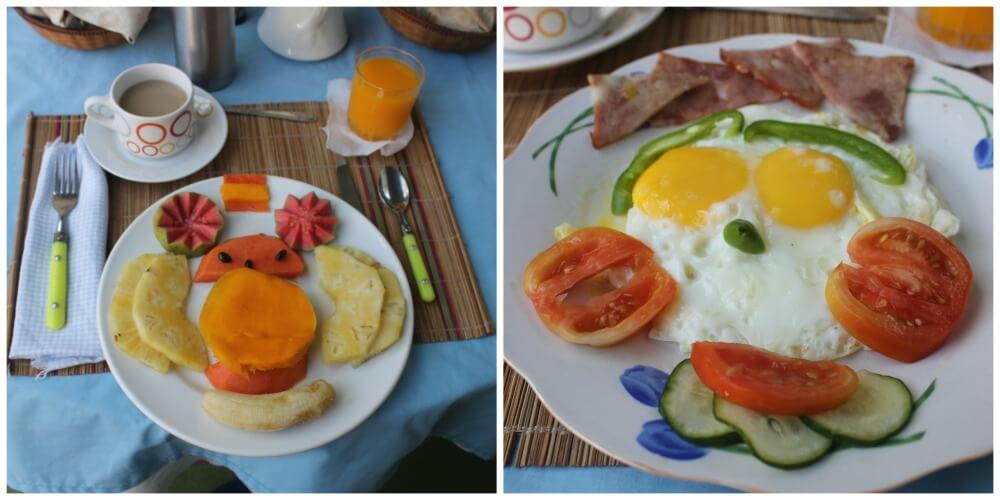 Desayuno en nuestra casa particular de Cienfuegos