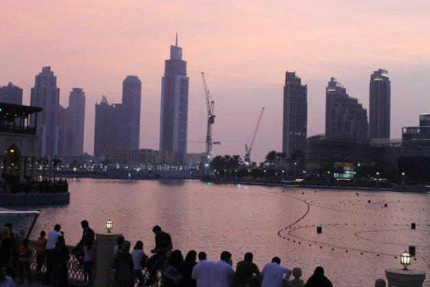 Espectáculo de la fuente del Dubai Mall