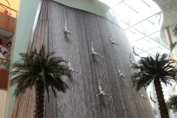 La fuente del Dubai Mall - Centros comerciales de Dubái