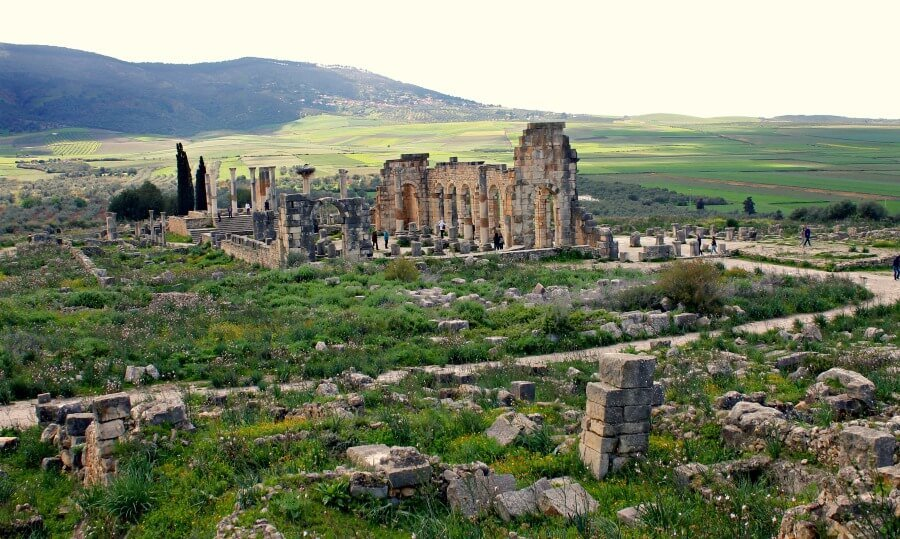 Las ruinas de Volubilis, un tesoro en Marruecos