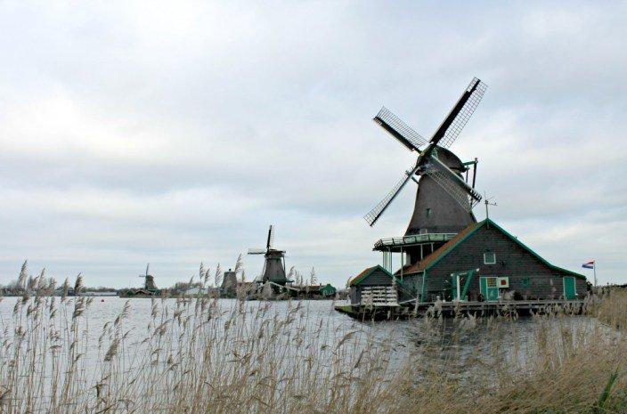 Los molinos de Holanda en Zansee Schans