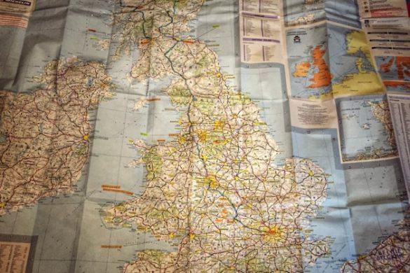 Mapa de Gran Bretaña con mi ruta por Escocia e Inglaterra