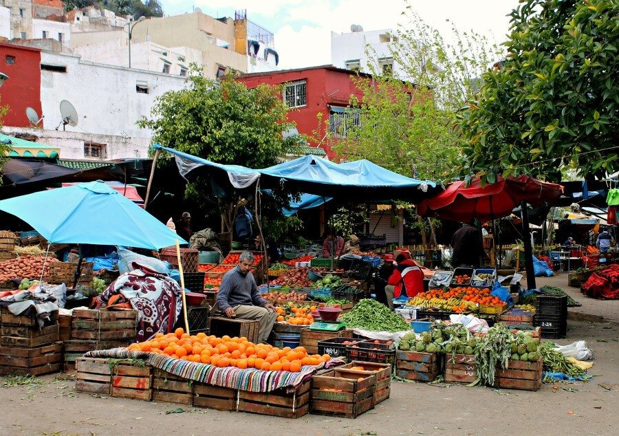 Mercado de Moulay Idriss en Marruecos