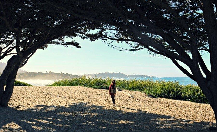 Playa de Carmel-by-the-Sea en la Pacific Coast Route