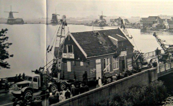 Traslado de casas a Zaanse Schans, el pueblo de los molinos
