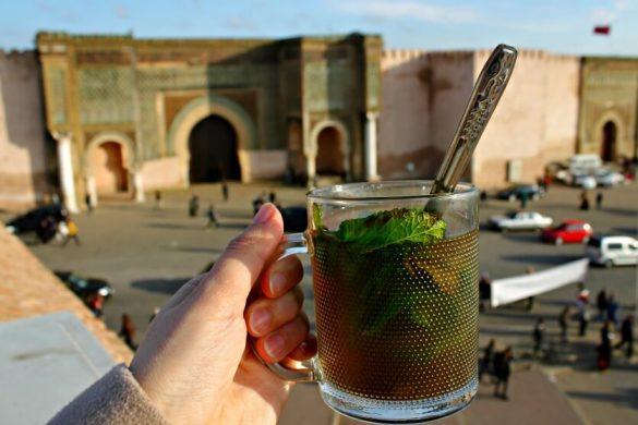 Un té en el Café Pavillion de Meknès