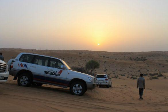 Atardecer en el desierto de Dubái
