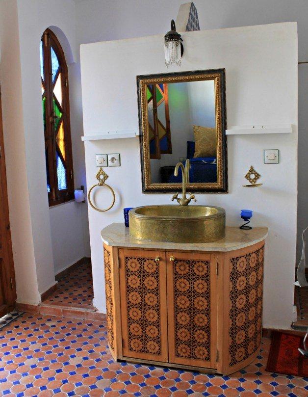Lavabo de nuestro alojamiento en Tetuán