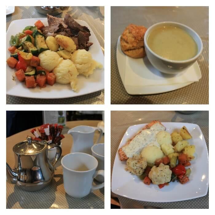 Menú en el restaurante de Kylemore Abbey