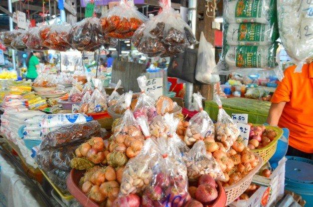 Mercado local de Nimman en Chiang Mai
