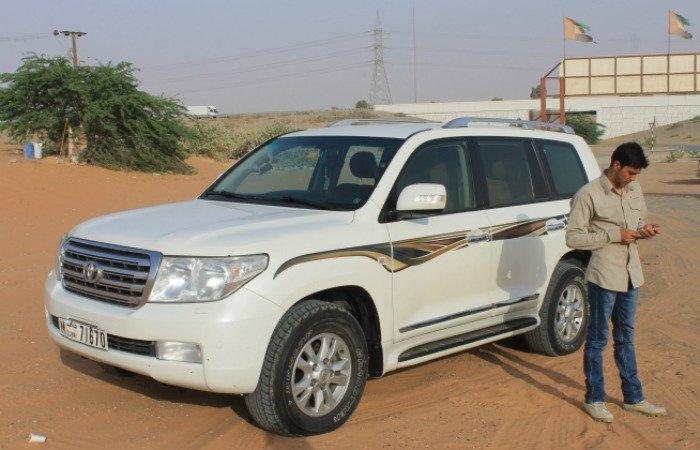 Nuestro guía en el safari por el desierto