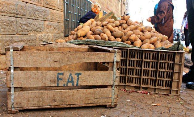 Patatas en el mercado de Tetuán