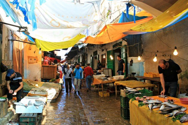 Pescados en la Medina de Tetuán