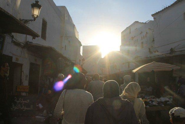 Rayos de sol en Tetuán