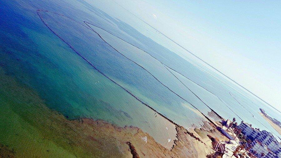 Vistas de los Corrales de Chipiona desde el Faro